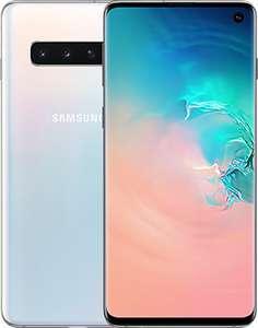"Smartphone 6.1"" Samsung Galaxy S10 - WQHD+, Exynos 9820, 8 Go de RAM, 128 Go, blanc (+ 8.82€ en Rakuten Points)"