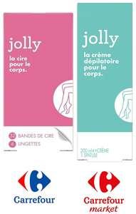 Pack de Cire ou Bande dépilatoire Jolly (via 5.56€ sur la carte fidélité + BDR)