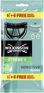 Lot de 12 rasoirs jetables Wilkinson Sword Xtreme 3 Sensitive