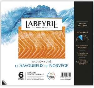 Saumon fumé Labeyrie - 6 tranches (via 3,05 € sur la carte fidélité + BDR de 2.70€)