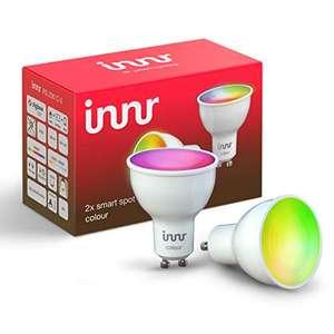 Lot de 2 ampoules LED GU10 Innr RS 230 C-2 - RGBW, étanche IP20, Zigbee (vendeur tiers)