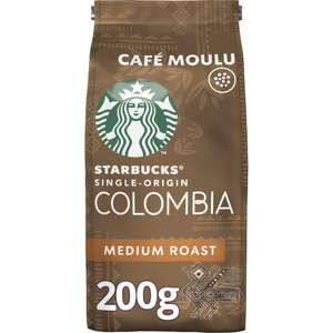 Lot de 3 paquets de Café moulu Medium Colombia Starbucks - 3 x 200g (magasins participants)