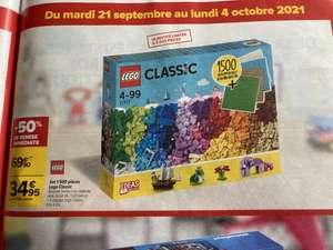 Sélection d'articles en promotion - Ex: Jeu de construction Lego Classic - Des briques et des plaques à gogo (11717) - 1500 pièces