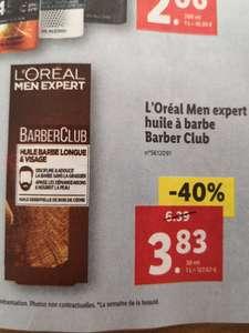 Flacon d'huile à barbe L'Oréal Men Expert BarberClub - huille essentielle de bois de cèdre, 30 ml