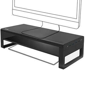 Support Moniteur en Aluminium avec étagère Vaydeer xunli-003 - 3x USB 3.0 + 1x USB Fast Charging 22W (Vendeur tiers - Via coupon)