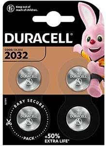 Lot de 4 Piles bouton lithium Duracell spéciale 2032 - 3 V, DL2032/CR2032 (Vendeur Tiers)