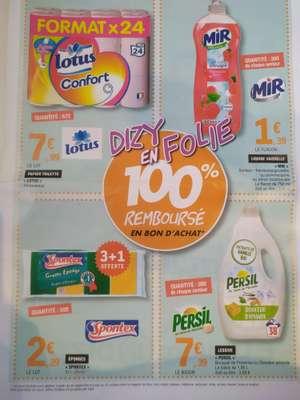Sélection de produits 100% remboursés en bons d'achat - Ex: papier WC Lotus x24 rouleaux (via 7.99€ en BA) - Dizy (51)