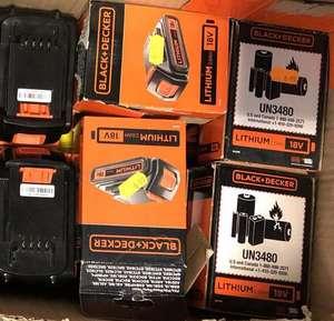 Batterie Lithium Black+Decker BL2018-XJ - 18V, 2 Ah - Maxigriff (93)