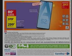 """Smartphone 6.5"""" Samsung A52 - 6 Go de Ram, 128 Go, 4G, noir ou blanc"""