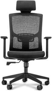 Chaise de bureau ergonomique - accoudoirs réglables, appuie-tête, soutien lombaire et dossier (vendeur tiers)