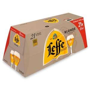 Pack de 21 bières blonde Leffe - 21 x 25 cl