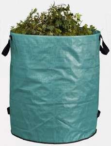 Sac à végétaux pliant - 272L, avec poignées & anneau de maintien