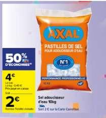 Sac de sel adoucisseur Axal - 10 kg (via 2€ sur la carte fidélité)