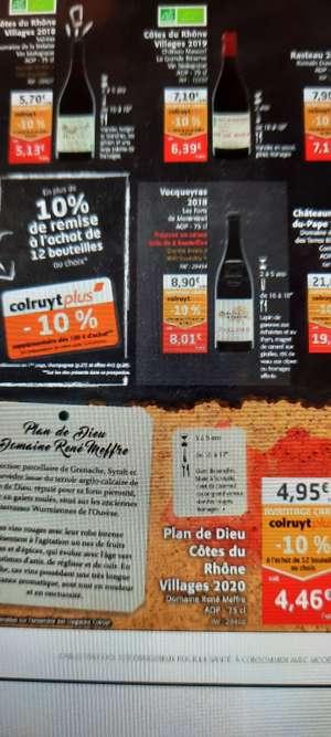 [Carte Colruyt Plus] Lot de 6 bouteilles de vin rouge Vacqueyras 2018 - 6 x 75 cl