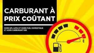 Carburant à prix coûtant (hors GPL, Fuel domestique & E85 - Stations-Service Participantes)