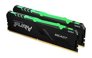 Kit Mémoire RAM Kingston Fury Beast 64 Go (2 x 32 Go) - DDR4, 3600MHz, CL18, RGB