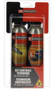 Kit de nettoyants injection + traitement anti-fumées Facom Contrôle Technique Diesel 006020 - 2x300 ml