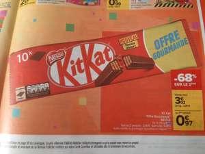 Lot de 2 paquets de 10 barres Nestlé KitKat (2x415 g)