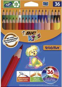 Lot de 36 crayons de couleur Bic Kids Évolution