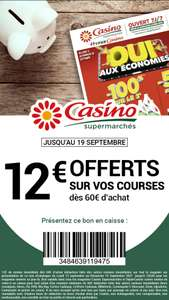 10€ de remise dès 60€ d'achat (Hors exceptions)