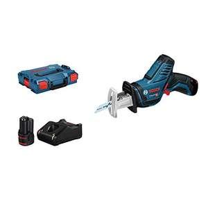 Scie sabre Bosch Professional 12V sans-fil GSA 12V-14 + 2 Lames + 2 Batteries 3,0 Ah + Chargeur + L-BOXX