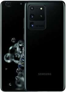 "Smartphone 6.9"" Samsung Galaxy S20 Ultra 5G - WQHD+, Exynos 990, 12 Go de RAM, 128 Go, noir, version US (+ 17.38€ en Rakuten Points)"