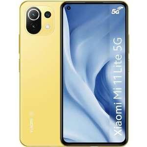 "Smartphone 6.55"" Xiaomi Mi 11 Lite 5G - Double SIM, 128 Go, Jaune"
