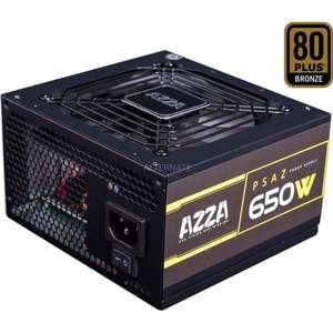 Alimentation PC Azza PSAZ - 650W, ATX, Noir 80+ Bronze