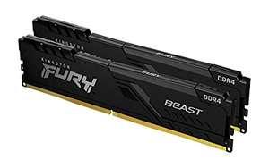 Kit Mémoire RAM Kingston FURY Beast (KF432C16BBK2/64) - 64 Go (2x32 Go) DDR4, 3200 MHz, CL16