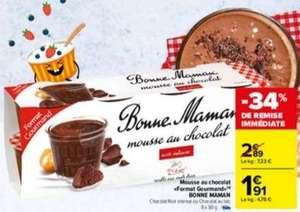 Lot de 8 pots de Mousse au chocolat Bonne Maman