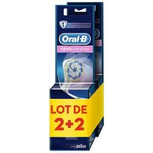 Lot de 4 brossettes Oral-B (2 x 2) - Différentes Variétés