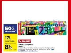 Set de 23 surligneurs Boss Original - 9 fluos + 14 pastels (via 8.95€ sur la carte de fidélité)
