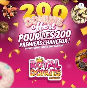 1 donut offert pour les 200 premiers clients - Royal Donus Marseille (13)