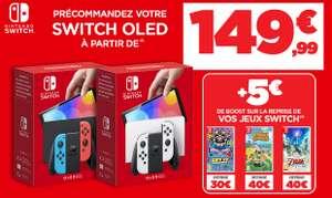 [Pré-commande] Console Nintendo Switch OLED à partir de 99.99€ en ramenant une console parmi une sélection