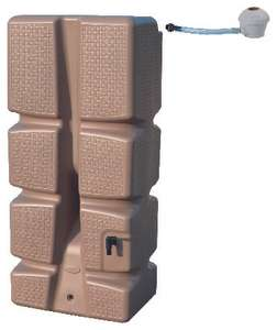 Récupérateur d'eau de pluie + kit collecteur EDA - 310 L, taupe