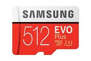Carte Micro SDXC Samsung EVO Plus - 512Go + Adaptateur