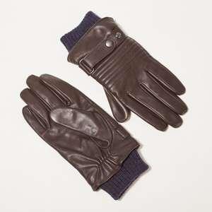 Gants en cuir Bonobo marron foncé - Tailles M/L (différents modèles)