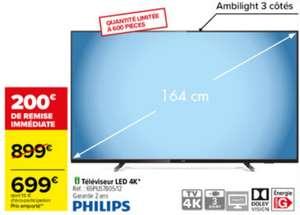 """TV 65"""" Philips 65PUS7805 - 4K UHD, LED, Smart TV, Dolby Vision, Ambilight 3 côtés (Magasins Participants)"""