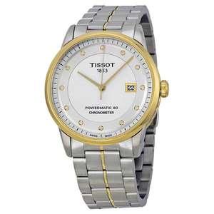 Montre automatique Tissot cosc Luxury Silver Dial Men's Watch T086.408.22.036.00 ,verre saphir, plaqué or (frais de douanes et port inclus)