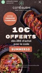 [Nouveaux Clients] 10€ de réduction dès 25€ d'achat