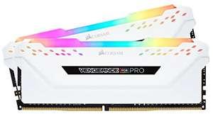 Kit mémoire RAM Corsair VENGEANCE RGB Pro (CMW32GX4M2E3200C16W) - 32Go (2x16Go), DDR4, 3200MHz