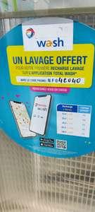 1 Lavage offert pour votre prochaine recharge sur l'application Total Wash