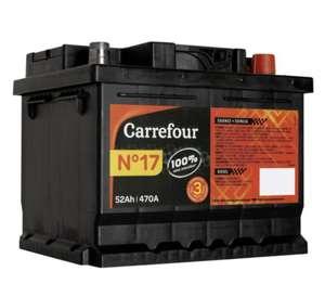 30% cagnottés sur les Batteries Auto Carrefour - Ex : Batterie auto N°17, 12V / 52 Ah / 470 A (Via 22.47€ sur Carte Fidélité)