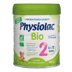 Lait 2ème Age Physiolac Bio - 800g, 6 à 12 mois