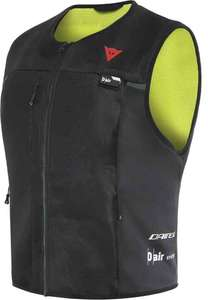 Gilet airbag pour motard Dainese Smart Jacket V1 - Noir/Jaune Fluo, Diverses tailles