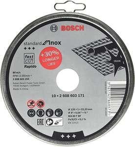 Lot de 10 disques à tronçonner Bosch Professional Standard pour Inox Rapido WA 60 T BF (Ø 125 mm)