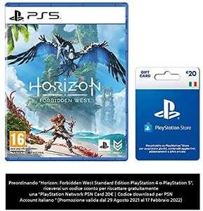 [Précommande] Horizon Forbidden West + Carte Sony PlayStation Store de 20€ (Dématérialisé - Compte Italie)