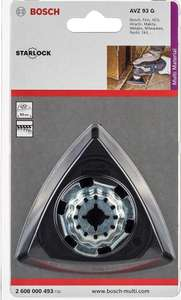 Plateau de ponçage pour outil multifonction Bosch Professional Starlock AVZ 93 G