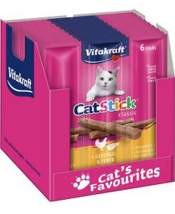 10 Sachets de 6 sticks Vitakraft Cat-Stick Mini saveur Volaille et Foie -