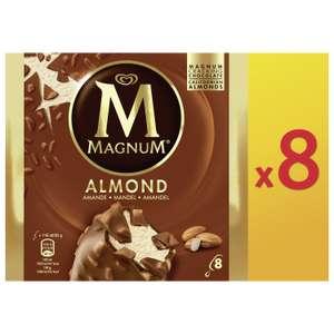 Boîte de 8 glaces Magnum Amande